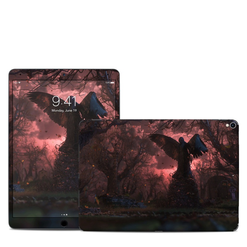 iPad Pro 2nd Gen 10.5-inch Skin design of Nature, Sky, Atmospheric phenomenon, Tree, Atmosphere, Darkness, Night, Screenshot, Cg artwork, Fictional character with black, red colors