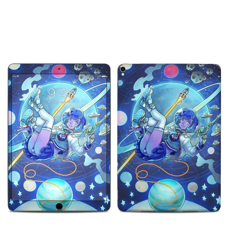 iPad Pro 2nd Gen 10.5-inch Skin design of Cartoon, Illustration, Graphic design, Games, Space, Design, Anime, Art, Graphics, Fictional character with blue, white, yellow, purple, green, red, orange, black colors