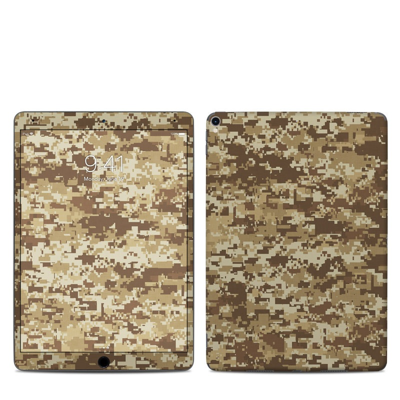 iPad Pro 10.5-inch Skin design of Military camouflage, Brown, Pattern, Camouflage, Wall, Beige, Design, Textile, Uniform, Flooring with brown colors