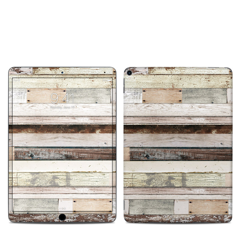 iPad Pro 2nd Gen 10.5-inch Skin design of Wood, Wall, Plank, Line, Lumber, Wood stain, Beige, Parallel, Hardwood, Pattern with brown, white, gray, yellow colors