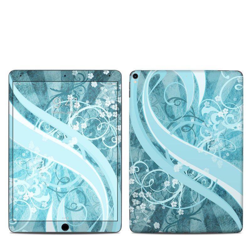 iPad Pro 10.5-inch Skin design of Aqua, Blue, Turquoise, Pattern, Teal, Text, Circle, Design, Graphic design, Wallpaper with gray, blue, purple colors
