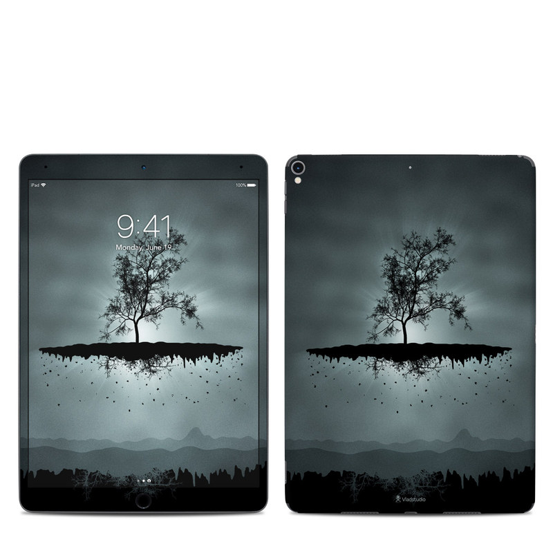 iPad Pro 10.5-inch Skin design of Reflection, Sky, Nature, Water, Black, Tree, Black-and-white, Monochrome photography, Natural landscape, Atmospheric phenomenon with black, gray, blue colors