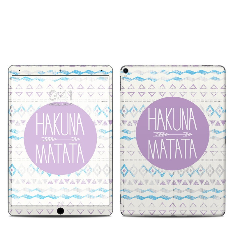 iPad Pro 10.5-inch Skin design of Text, Font, Aqua, Pattern, Line, Purple, Turquoise, Teal, Design, Textile with gray, white, yellow, pink, purple colors