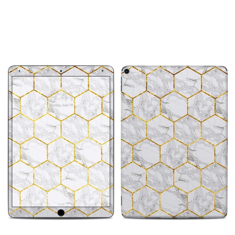 iPad Pro 2nd Gen 10.5-inch Skin design of Pattern, Tile flooring, Line, Tile, Design, Flooring, Floor with white, black, brown colors