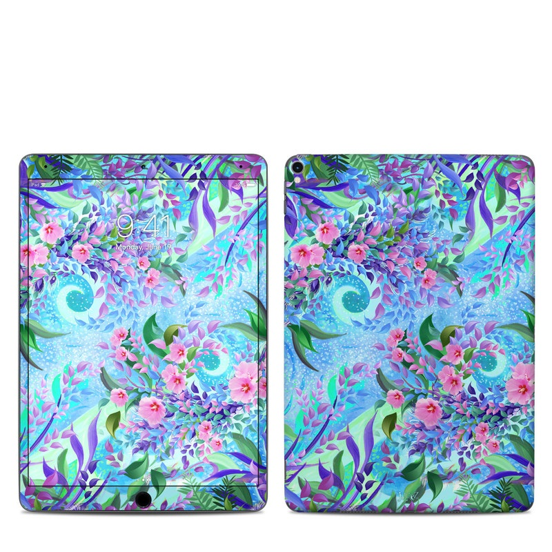 iPad Pro 10.5-inch Skin design of Psychedelic art, Pattern, Lilac, Purple, Art, Pink, Design, Fractal art, Visual arts, Organism with gray, blue, purple colors