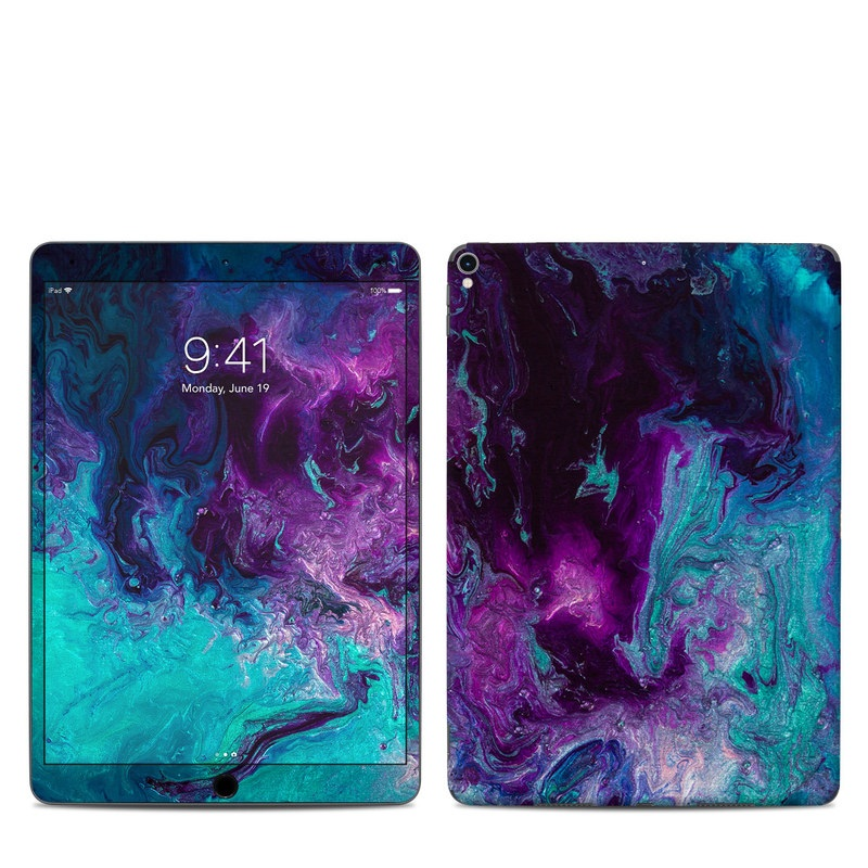 iPad Pro 10.5-inch Skin design of Blue, Purple, Violet, Water, Turquoise, Aqua, Pink, Magenta, Teal, Electric blue with blue, purple, black colors