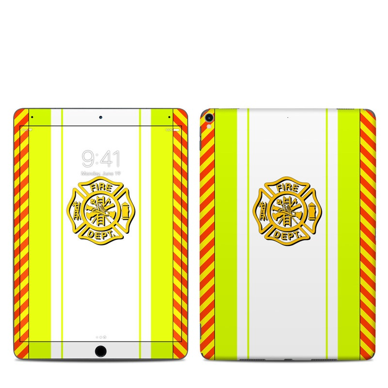 iPad Pro 2nd Gen 10.5-inch Skin design of Yellow, Line, Font, Military rank with white, green, red, yellow colors