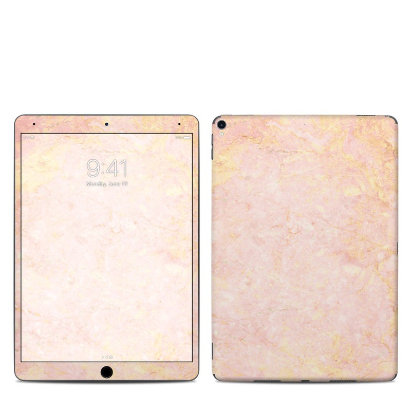 iPad Pro 2nd Gen 10.5-inch Skin design of Pink, Peach, Wallpaper, Pattern with pink, yellow, orange colors