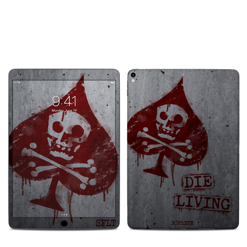 iPad Pro 2nd Gen 10.5-inch Skin design of Red, Street art, Art, Font, Wall, Graffiti, Visual arts, Illustration, Graphics, Logo with gray, red colors