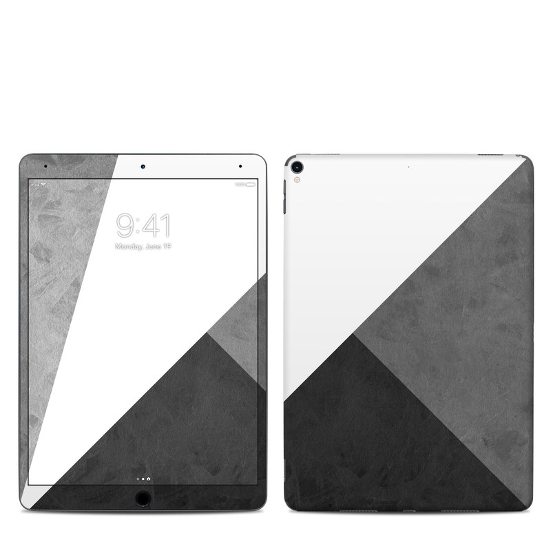 iPad Pro 2nd Gen 10.5-inch Skin design of Black, White, Black-and-white, Line, Grey, Architecture, Monochrome, Triangle, Monochrome photography, Pattern with white, black, gray colors