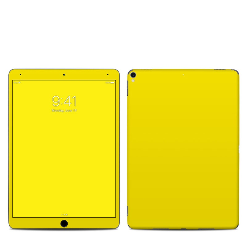 iPad Pro 10.5-inch Skin design of Green, Yellow, Orange, Text, Font with yellow colors