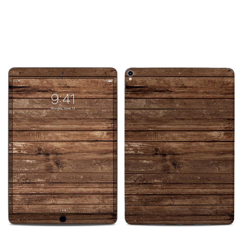 iPad Pro 2nd Gen 10.5-inch Skin design of Wood, Brown, Wood stain, Plank, Hardwood, Wood flooring, Line, Pattern, Floor, Flooring with brown colors