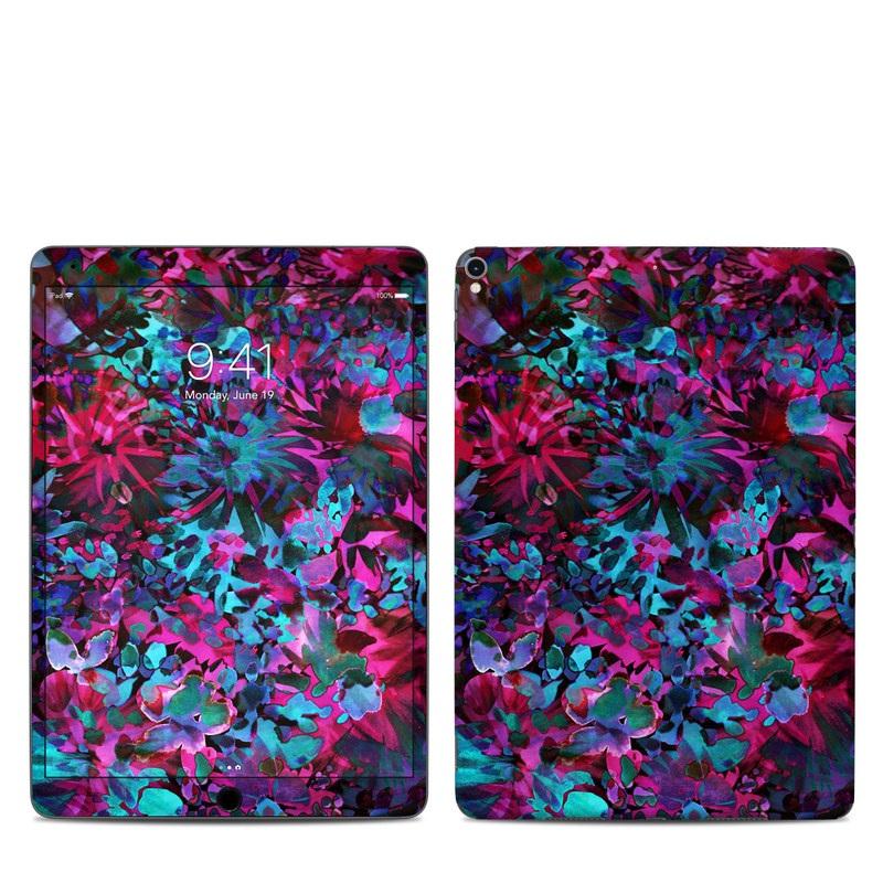 iPad Pro 2nd Gen 10.5-inch Skin design of Pink, Purple, Violet, Lilac, Flower, Leaf, Plant, Magenta, Botany, Pattern with black, pink, purple, blue, green colors