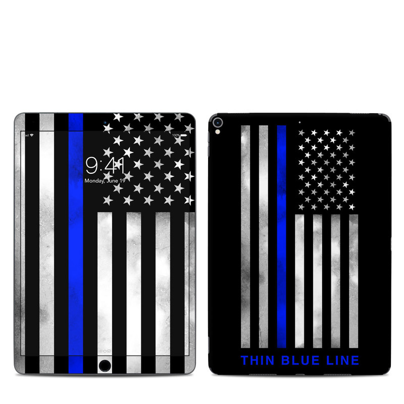 iPad Pro 10.5-inch Skin design of Line, Flag, Text, Flag of the united states, Font, Parallel, Symmetry, Black-and-white, Pattern, Graphics with black, white, gray, blue colors