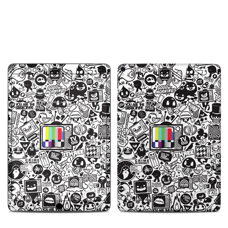 iPad Pro 2nd Gen 10.5-inch Skin design of Pattern, Drawing, Doodle, Design, Visual arts, Font, Black-and-white, Monochrome, Illustration, Art with gray, black, white colors