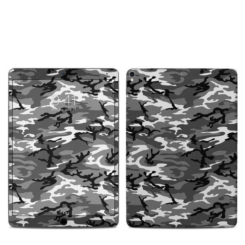 iPad Pro 2nd Gen 10.5-inch Skin design of Military camouflage, Pattern, Clothing, Camouflage, Uniform, Design, Textile with black, gray colors