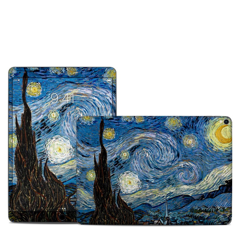 iPad Pro 2nd Gen 10.5-inch Skin design of Painting, Purple, Art, Tree, Illustration, Organism, Watercolor paint, Space, Modern art, Plant with gray, black, blue, green colors