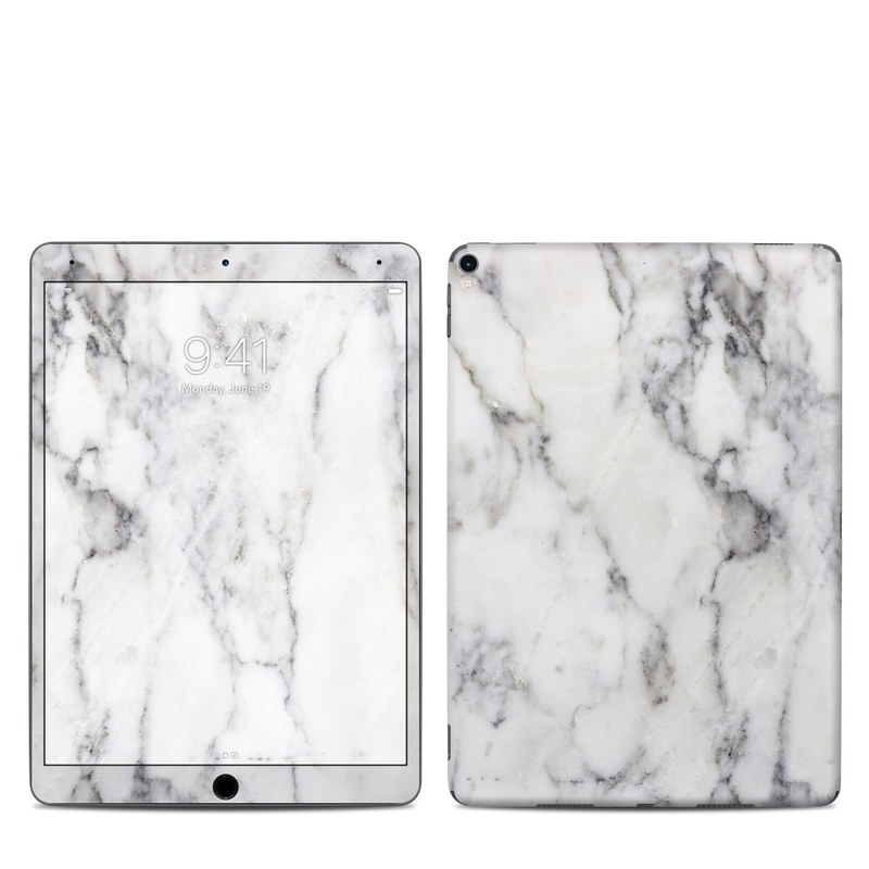 iPad Pro 2nd Gen 10.5-inch Skin design of White, Geological phenomenon, Marble, Black-and-white, Freezing with white, black, gray colors