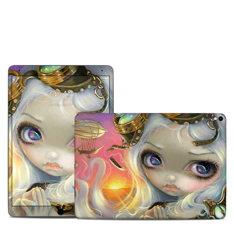 iPad Pro 2nd Gen 10.5-inch Skin design of Illustration, Cg artwork, Fictional character, Art, Mythology, Doll with gray, black, green, red, purple colors