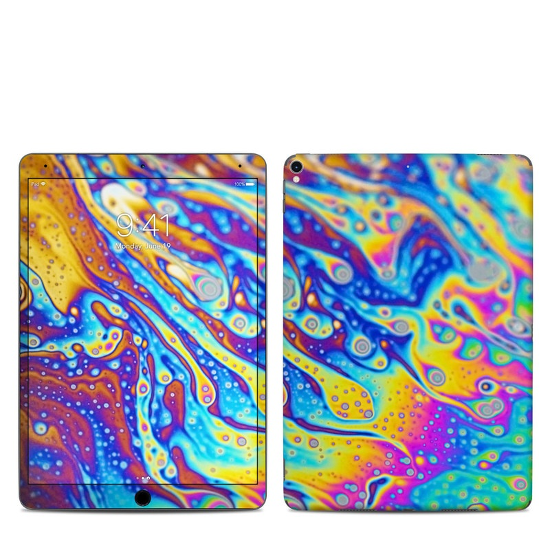 iPad Pro 2nd Gen 10.5-inch Skin design of Psychedelic art, Blue, Pattern, Art, Visual arts, Water, Organism, Colorfulness, Design, Textile with gray, blue, orange, purple, green colors