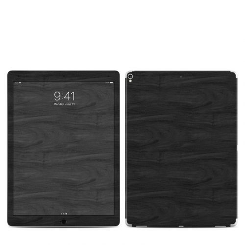 Black Woodgrain iPad Pro 2nd Gen 12.9-inch Skin
