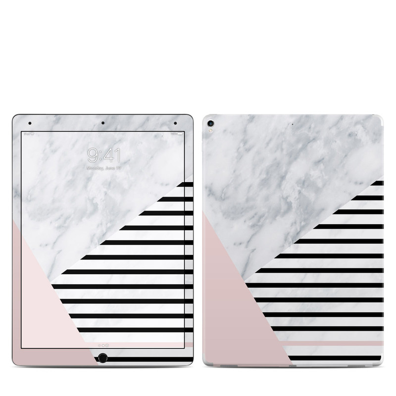 iPad Pro 2nd Gen 12.9-inch Skin design of White, Line, Architecture, Stairs, Parallel with gray, black, white, pink colors