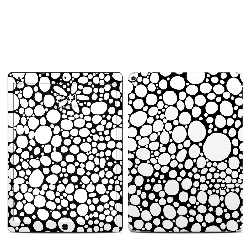iPad Pro 2nd Gen 12.9-inch Skin design of Pattern, Circle, Line, Design, Visual arts, Monochrome, Black-and-white with black, white colors
