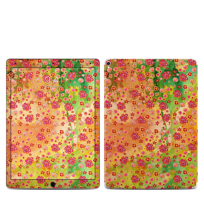 iPad Pro 2nd Gen 12.9-inch Skin design of Textile, Pattern with green, red, gray, purple, black colors
