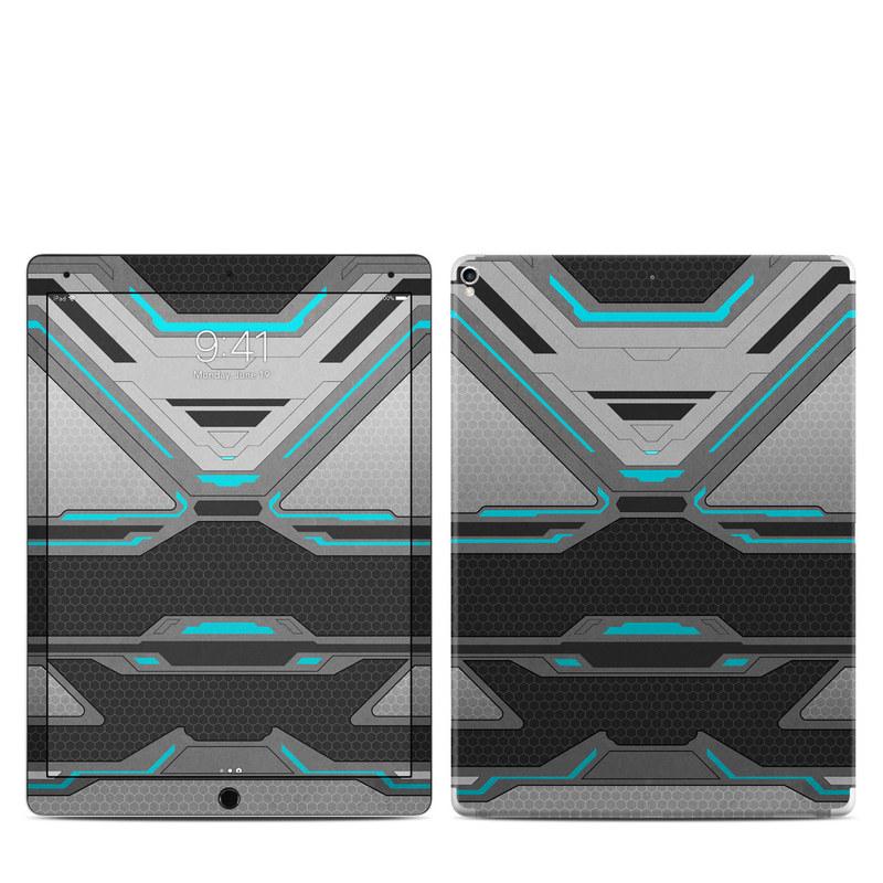 iPad Pro 2nd Gen 12.9-inch Skin design of Blue, Turquoise, Pattern, Teal, Symmetry, Design, Line, Automotive design, Font with black, gray, blue colors