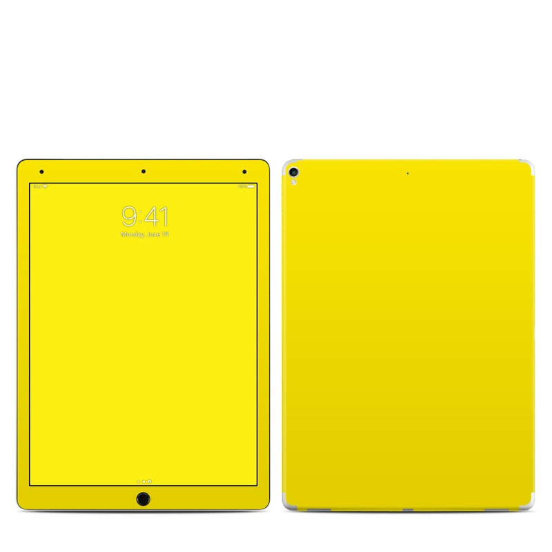 iPad Pro 12.9-inch 2nd Gen Skin design of Green, Yellow, Orange, Text, Font with yellow colors