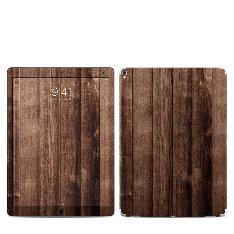 iPad Pro 12.9-inch 2nd Gen Skin design of Wood, Wood flooring, Hardwood, Wood stain, Plank, Brown, Floor, Line, Flooring, Pattern with brown colors