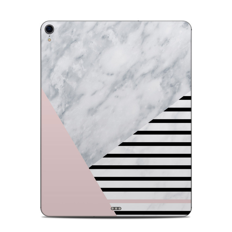 iPad Pro 3rd Gen 12.9-inch Skin design of White, Line, Architecture, Stairs, Parallel with gray, black, white, pink colors
