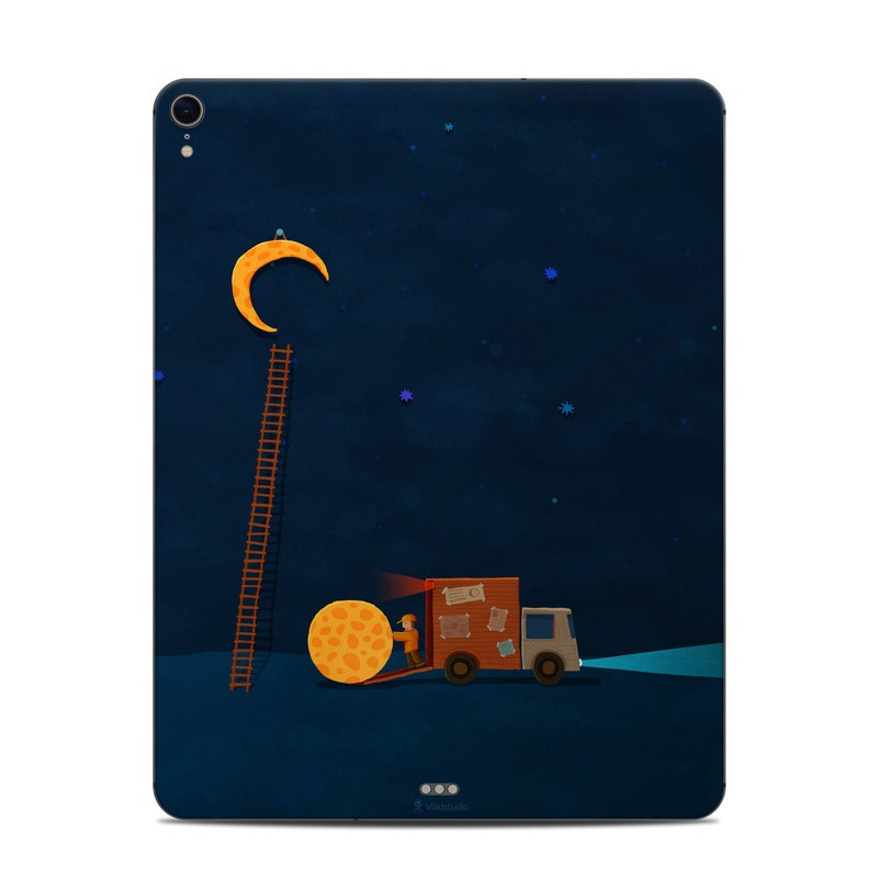 iPad Pro 3rd Gen 12.9-inch Skin design of Sky, Illustration, Night, Space, Symbol, Number, Art with black, blue, yellow, red, orange colors