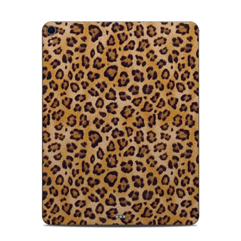 iPad Pro 12.9-inch 3rd Gen Skin design of Pattern, Felidae, Fur, Brown, Design, Terrestrial animal, Close-up, Big cats, African leopard, Organism with orange, black colors