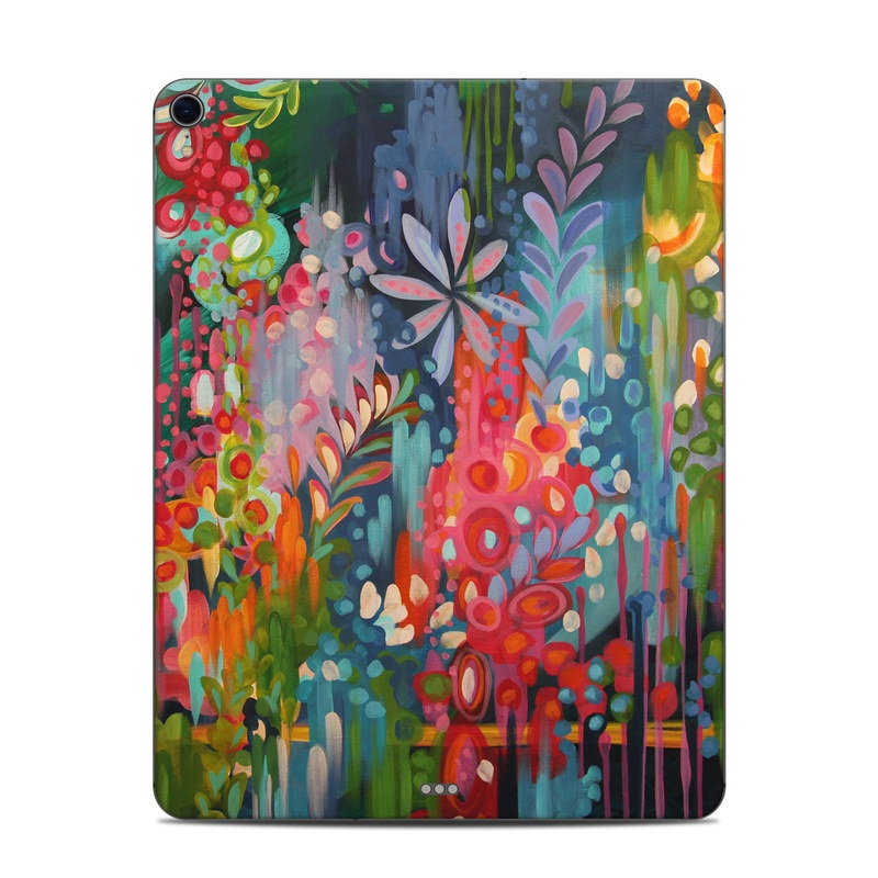 iPad Pro 12.9-inch 3rd Gen Skin design of Painting, Modern art, Acrylic paint, Art, Visual arts, Watercolor paint, Child art, Flower, Plant, Tree with blue, red, orange, purple, yellow, pink, green colors
