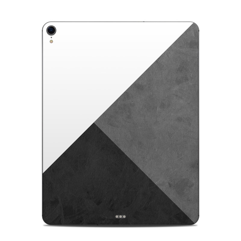 iPad Pro 3rd Gen 12.9-inch Skin design of Black, White, Black-and-white, Line, Grey, Architecture, Monochrome, Triangle, Monochrome photography, Pattern with white, black, gray colors