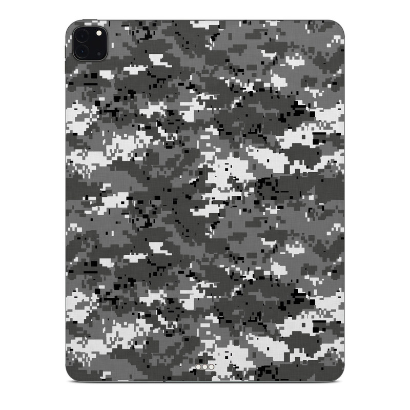 iPad Pro 12.9-inch Skin design of Military camouflage, Pattern, Camouflage, Design, Uniform, Metal, Black-and-white with black, gray colors