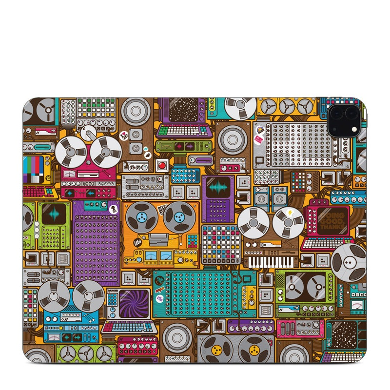 iPad Pro 12.9-inch Skin design of Games, Pc game, Design, Pattern, Screenshot, Art with gray, black, red, green, blue, purple colors