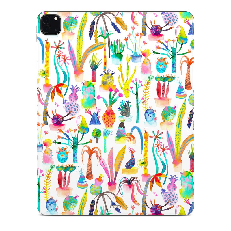 iPad Pro 12.9-inch Skin design of Pattern with white, yellow, green, blue, orange, pink, purple, brown, black colors