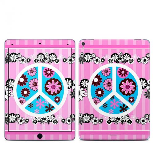 Peace Flowers Pink iPad Pro 9.7-inch Skin