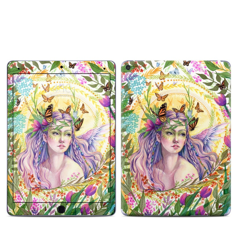 iPad Pro 9.7-inch Skin design of Illustration, Fictional character, Art, Plant, Psychedelic art with green, yellow, purple, pink, red colors