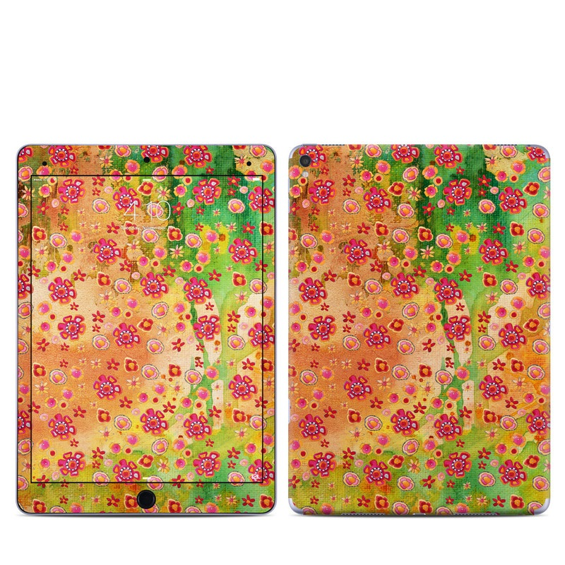 iPad Pro 9.7-inch Skin design of Textile, Pattern with green, red, gray, purple, black colors