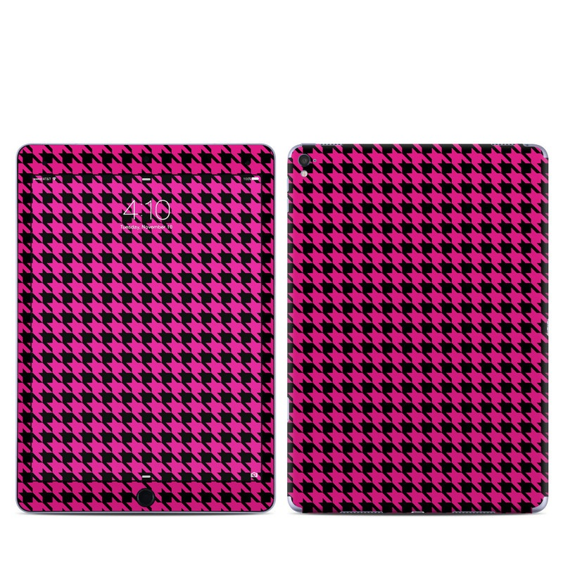 iPad Pro 9.7-inch Skin design of Pink, Pattern, Magenta, Line, Design, Textile with black, purple, red colors