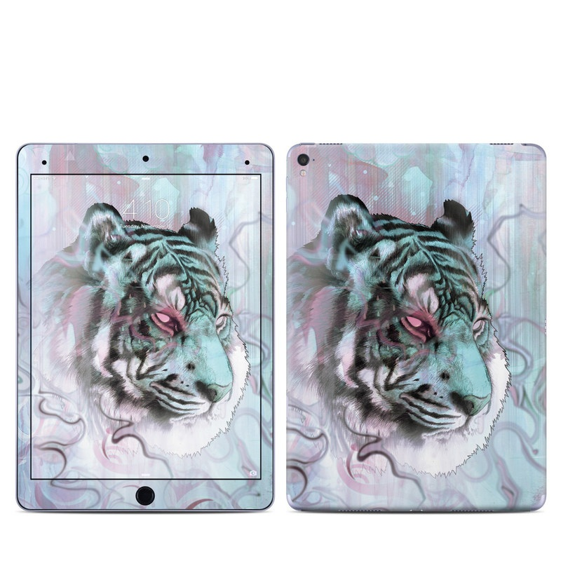 iPad Pro 9.7-inch Skin design of Watercolor paint, Illustration, Art, Visual arts, Drawing, Graphic design, Pattern, Painting, Acrylic paint, Fictional character with gray, purple, black colors
