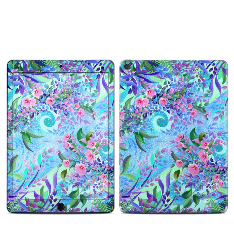 iPad Pro 9.7-inch Skin design of Psychedelic art, Pattern, Lilac, Purple, Art, Pink, Design, Fractal art, Visual arts, Organism with gray, blue, purple colors