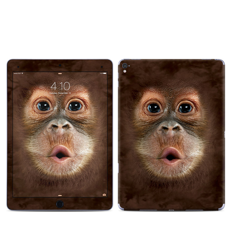 iPad Pro 1st Gen 9.7-inch Skin design of Mammal, Vertebrate, Face, Snout, Primate, Head, Skin, Close-up, Nose, Mouth with black, red, gray, green colors