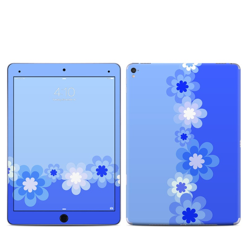 Retro Blue Flowers iPad Pro 9.7-inch Skin