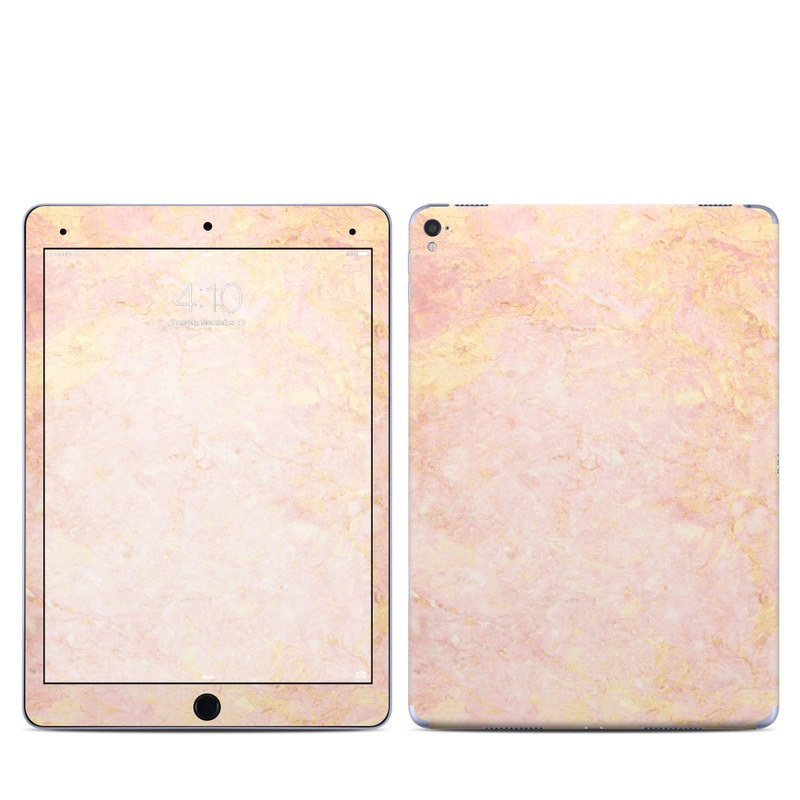 iPad Pro 9.7-inch Skin design of Pink, Peach, Wallpaper, Pattern with pink, yellow, orange colors