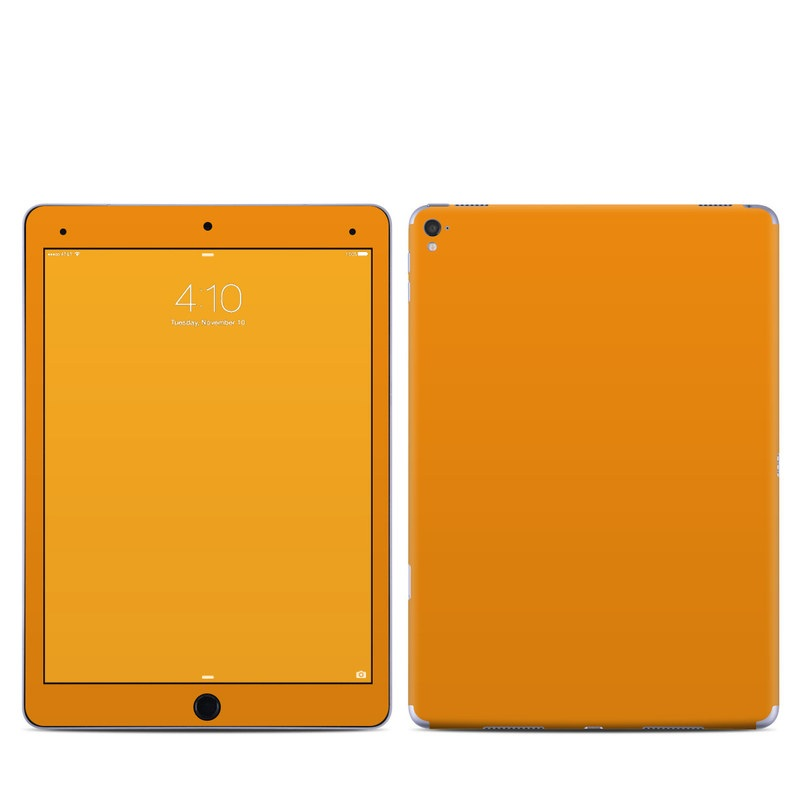 iPad Pro 9.7-inch Skin design of Orange, Yellow, Brown, Text, Amber, Font, Peach with orange colors