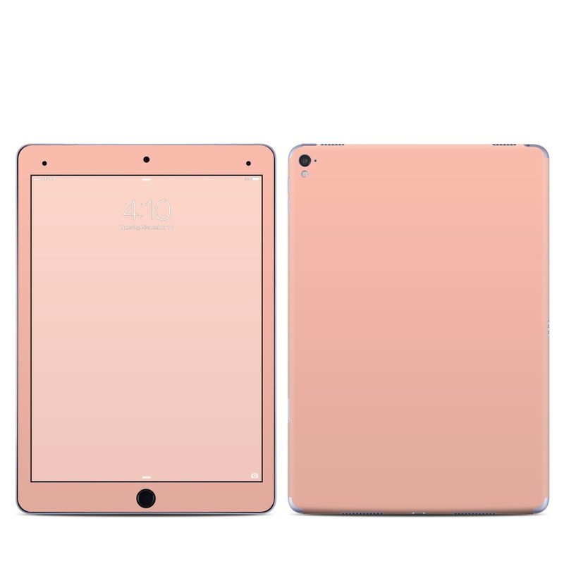 iPad Pro 9.7-inch Skin design of Orange, Pink, Peach, Brown, Red, Yellow, Material property, Font, Beige with pink colors